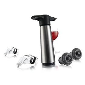 Vacu Vin Stainless Steel Wine Saver Gift Set