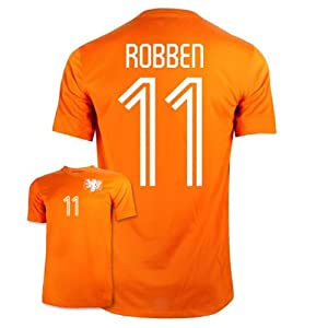 World Cup 2014 Holland Home Robben #11 Youth Soccer Jersey - size YL 6-8 y.o by S.F.A