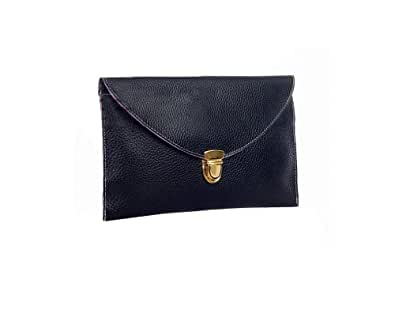 Gaorui Women lady Envelope Clutch Shoulder Chain Evening Handbag Tote Bag Purse_Black