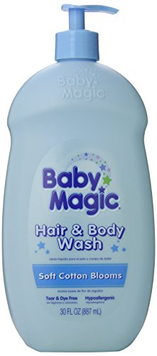 Baby Magic Hair and Body Wash, Soft Cotton Blooms, 30 Ounces (Pack of 4)