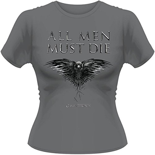 Plastic Head - Game Of Thrones All Men Must Die  GTS, T-Shirt donna, Grau, 38 (Taglia produttore:Large)