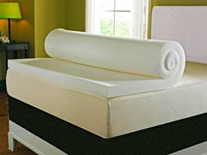 """Double 3"""" Deep Memory Foam Mattress Topper With A Washable"""