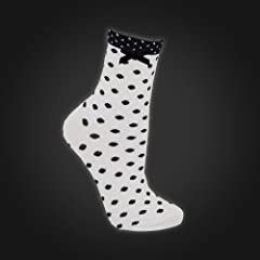 Guinness White Polka Dot Ladies Sock