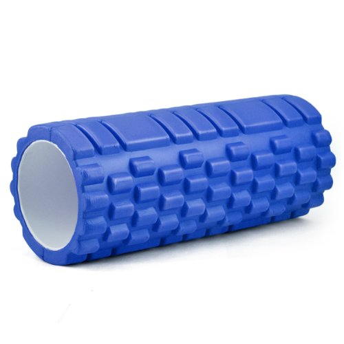 Foam Yoga roller the grid beast roller for massage workout and fitness Pilates All Colours (Blue)