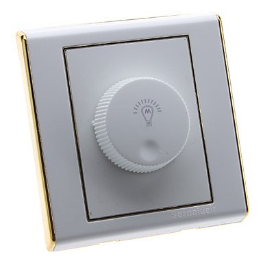 Zclled Bulbs Brightness Control Gold Edge Rotary Switch Dimmer (220V)