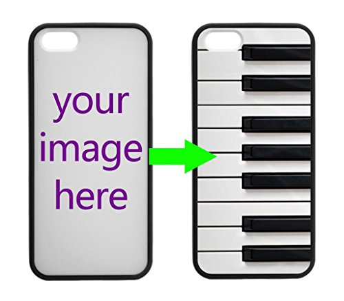Fashion Design Piano Keyboard Personalized Custom Case For Iphone 5/5S Case ( Laser Technology )Black / White Hard Plastic Iphone 5 Case