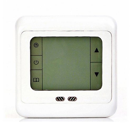 Digital Weekly Programmable Touchscreen Thermostat Underfloor Floor Heating Room Thermostat LCD Blue Backlight for Electric Heating System 16A