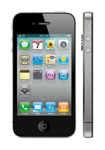 Apple iPhone 4S 32GB - Platinum and Rear Chassis In Platinum With Diamonds Luxury Mobile Phone