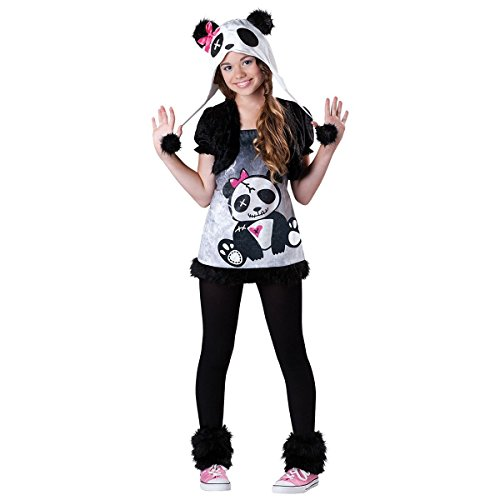 [GSG Zombie Panda Bear Halloween Costume Tween & Kids Fancy Dress] (Scary Bee Costume)