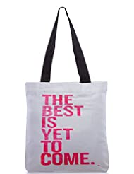 Snoogg The Best Is Yet To Come Poly Canvas Tote Bag