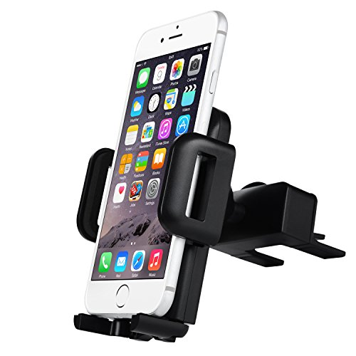 Car Mount Holder - Badalink Universal CD Slot & Air Vent Car Mount Holder Cradle with 360° Rotation for Iphone 6 6S SE Plus 5S 5 Samsung Galaxy Nexus LG Nokia Moto Oneplus HTC Phones (Iphone 5s Car Vent Holder compare prices)