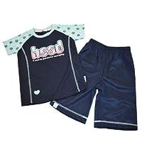 ジャージ キッズ ガールズ HEAD(ヘッド) Tシャツ&ハーフパンツ 14376ts-71(ネイビー )