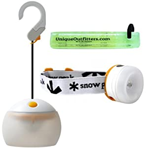 Snow Peak Hozuki LED Lantern + Candle Mode w/ Snow Miner Headlamp/Lantern & Glowstick