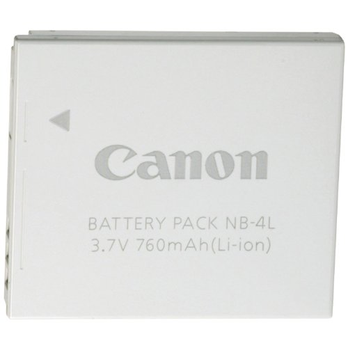 Canon NB-4L Li-Ion Battery for Canon SD1400IS, SD940IS, SD960IS and Other Select Canon Digital Cameras - Retail Package