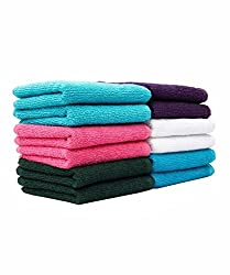 Casa Copenhagen-Basics Set Of 10 Pcs Terry Table Napkins -(Assorted Any 10 Pcs Wash Towels)...