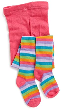 Jacques Moret Girls 7-16 Striped Sweater Tights, Multi, Medium 7-10