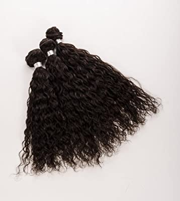 """Human Hair DirectTM 100% Virgin Brazilian Human Hair Extensions CURLY 3-Pack (16"""", 18"""", 20"""") Bundle, 300g Total (100g each), Grade 6A 