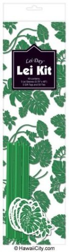Hawaiian Candy Lei Making Kit - 5 Green Lei Kits