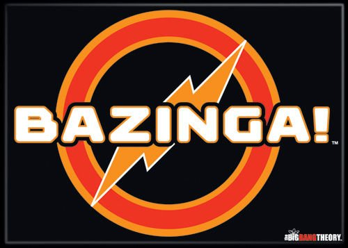The Big Bang Theory - Bazinga - Refrigerator Magnet (Big Bang Theory Fridge Magnet compare prices)