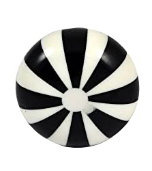 Set of 4 Zebra Pattern hand crafted Moderate plastic knobs cabinet drawer handles pulls