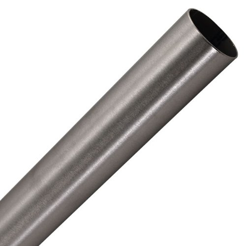 "Bar Foot Rail Tubing - Brushed Stainless Steel - 2"" OD: 8 feet"