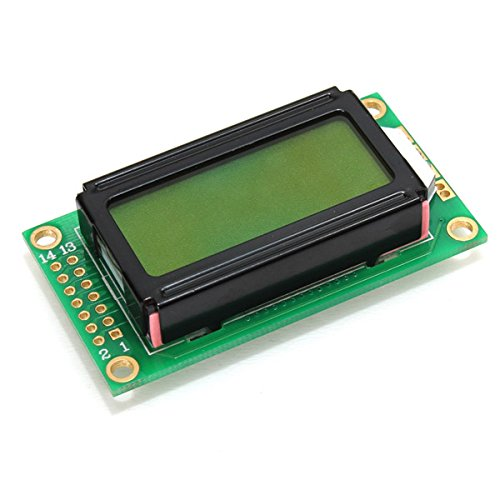 Beautyforall 2Pcs 8X2 Character Lcm Lcd Display Module Yellow Green Screen Led Backlight