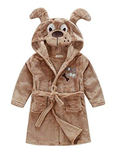 Toddlers/kids/baby Soft Fleece Bath Robe Bathrobe Pajamas Sleepwear 90cm