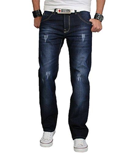 Rock Creek Herren Designer Jeans HOSE dunkelblau Vintage Look Denim NEU RC-2066 W40 L38