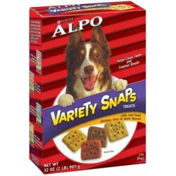 Nestle Purina Petcare 11303 10-Pack Alpo Snaps Variety, 32-Ounce