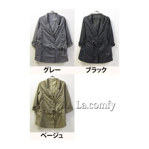 (ラ・コンフィ) La.comfy テーラード ハーフ コート/スプリング コート ジャケット/レディース 服 1252191 Fサイズ グレー