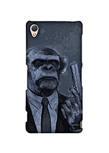 Gobzu Printed Hard Case Back Cover for Sony Xperia Z3 - Chimp Don