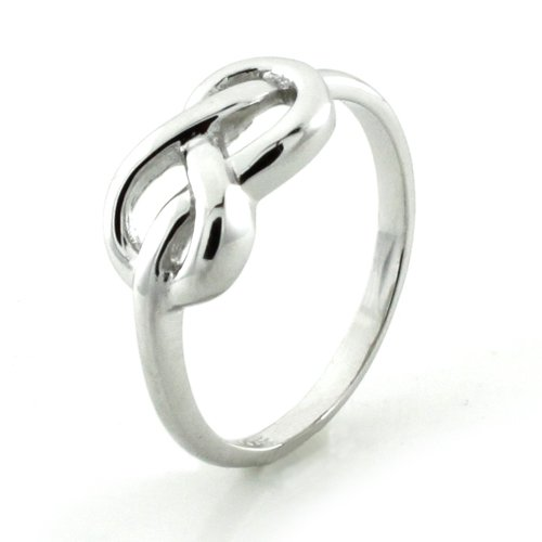 Sterling Silver Infinity Promise Knot Ring (Size 7) Available Size: 5, 6, 7, 8