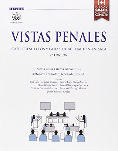 Vistas penales. Casos resueltos y guías de actuación en sala 2ª Edición 2015 (Manuales de Derecho Procesal)