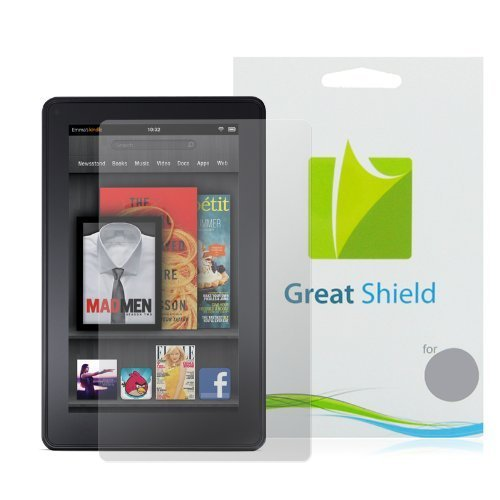 GreatShield Ultra Smooth Clear Screen Protector Film for Amazon Kindle Fire (6 Pack)