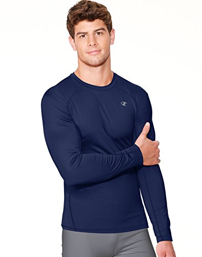 Champion Men's Powertrain Long Sleeve Raglan T-shirt, Navy, X-Large