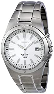 Seiko Men's SKA393P1 Kinetic Silver Dial Watch