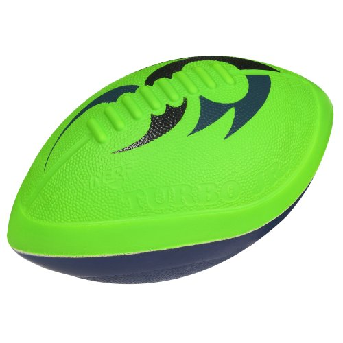 Nerf Turbo Jr Football, Green/Blue - 1