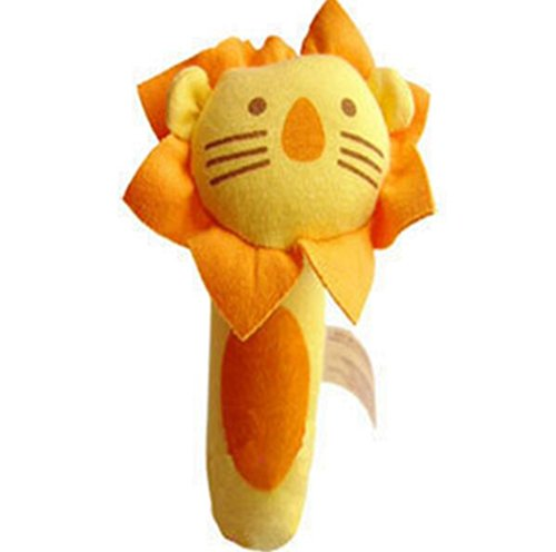 Soft-Plush-Animal-Baby-Rattle-Toy-Take-Along-with-Safety-Baby-Rattles-Soft-Animal-Baby-Hand-Rattle-Toys-Early-Development-Toys-Lion-Style-Color-Yellow-and-Orange
