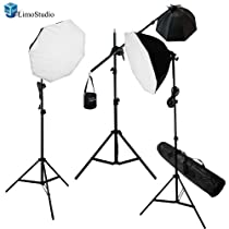 LimoStudio Digital Photography Video Continuous Softbox Lighting Light Kit Boom Stand Lighting Kit Carry Bag Photo Lighting Bulb_AGG704