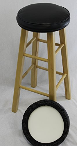 eHemco Bar Stool Cover with Foam Set of 2 (Bar Stool Covers Round Cushion compare prices)