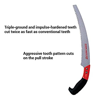 Corona Clipper RS 7120 13-Inch Razor Tooth Curved Pruning Saw with Cushion Grip Handle