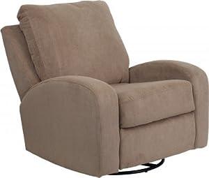 Flash Furniture Contemporary Griffin Brownstone Microfiber Swivel Glider Recliner AM-9410-3511-GG