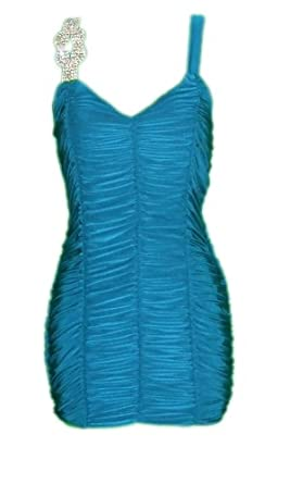 LI'L BLACK DRESS® Evening Cocktail Party Formal AILEEN Dress (small, teal)