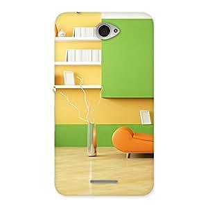 Delighted Pleasant Home Multicolor Back Case Cover for Sony Xperia E4
