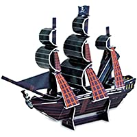 Imported 3D Puzzle The Black Pearl Mini Ship Series Jigsaw Model DIY Educational Toy