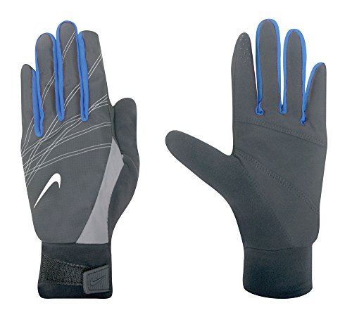 Nike Women's Elite Storm Fit Run Gloves (Extra Small, Midnight Fog/Treasure Blue)
