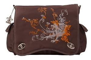 Kalencom Diaper Bag, Screened Chocolate Dragon