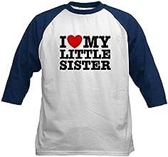 CafePress Kids Baseball Jersey - I Love My Little Sister Kids Baseball Jersey