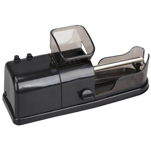 Vktech Black Electric Tobacco Roller Automatic Cigarette Rolling Machine Injector