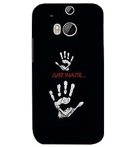 PRINTSWAG JUST WAIT Designer Back Cover Case for HTC ONE M8 EYE